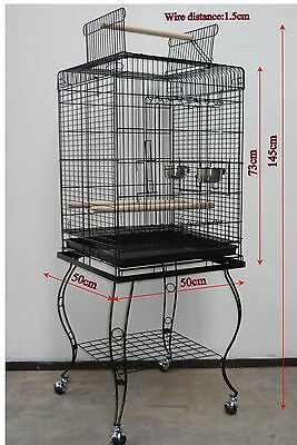 Brand New Large Bird Cage Parrot Aviary Open Roof with Stand 145cm – ED901