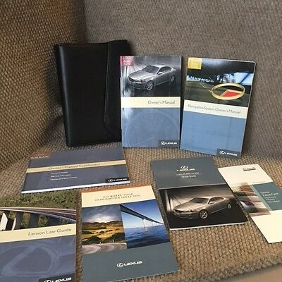 2006 Lexus IS250 IS350 Owners Manual Set with Navigation guide and case
