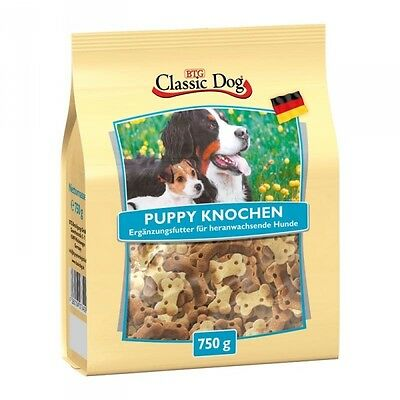 Classic Dog Snack Puppy Knochen 750g