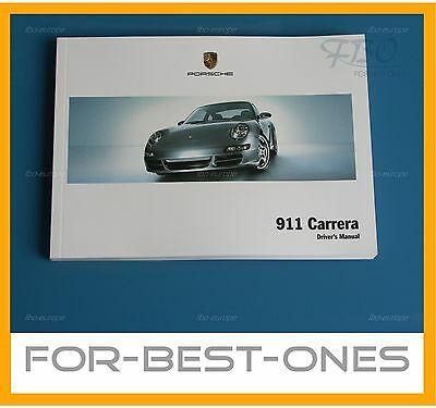 NEW Porsche 911 / 997 Carrera / Carrera S owners manual maintenance 2004 - 2008