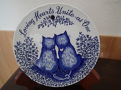 """""""Loving Hearts Unite As One"""" Burleigh Ironstone collector plate"""
