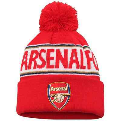 Official Licensed Football Product Arsenal FC Bobble  Hat with Pom Pom New