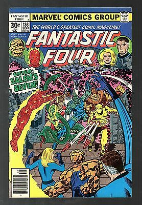 Fantastic Four Vol 1 No 186 Sep 1977 (VFN+) Cents Copy, Bronze Age (1970-1979)