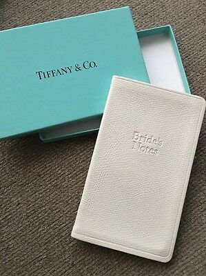 Vintage Unused TIFFANY & Co. Bride Bride's Wedding Journal Book Notes White