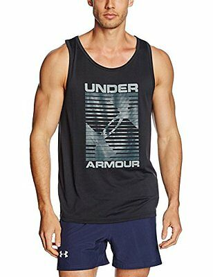 Under Armour Turned Up-Canotta sportiva, da uomo, colore: nero, taglia: XXL (tag