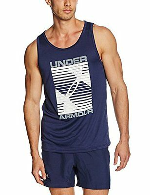 Under Armour Turned Up-Canotta sportiva, da uomo, Navy, taglia: L (taglia del pr
