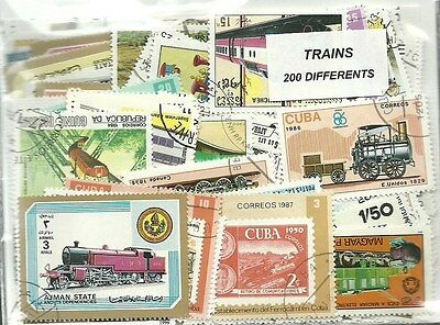 "Lot timbres thematique "" Trains"""