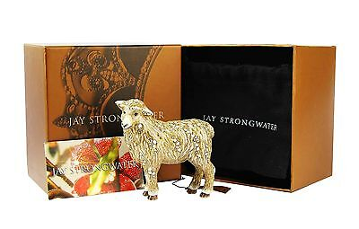 Jay Strongwater Holiday Standing Sheep Swarovski New Original Box Made In Usa