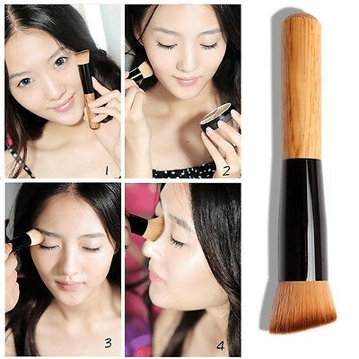 Pro Tech Brushes Face Powder Foundation Angled Contour Blush Cosmetic Makeup