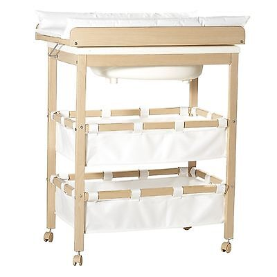 Roba Baby-Pool 1251 Bade-Wickel-Kombination Holz natur TOP