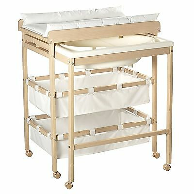 Roba Baby-Pool 1253 Bade-Wickel-Kombination Holz natur TOP