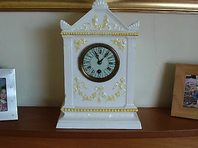 Nice Quality pottery/porcelain clock as seen in pictures age unknow