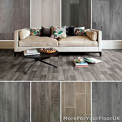 Grey Wood Vinyl Flooring, Grey Wood Plank Style Vinyl Floor 2m 3m 4m Wide CHEAP!