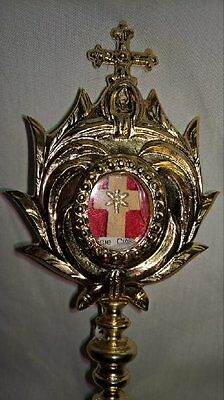 True Cross Relic Locket Housed in Small Reliquary+Copy of Authentic +Relic Cards