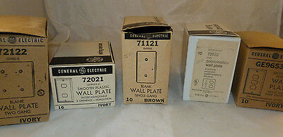 Vintage General Electric GE Outlet Wall Plate Wiring Devices Assorted LOT NOS