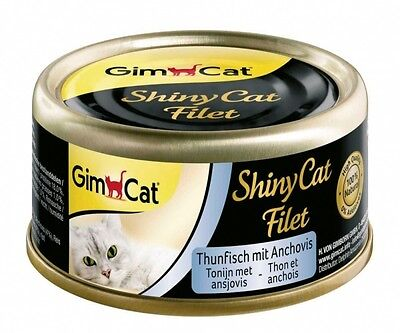 GimCat ShinyCat Filet Thunfisch+Anchovis 70g, Dose