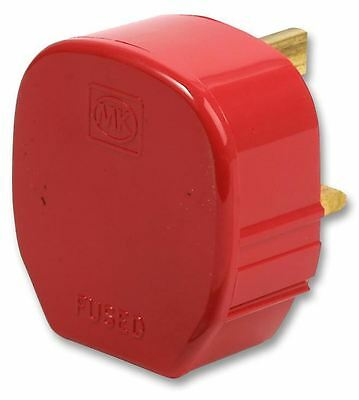 MK (ELECTRIC) - Toughplug 13A UK Mains Plug, Red