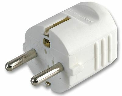 PRO ELEC - 16A Rewireable Schuko Plug with Top Entry, White