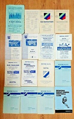 Bedford Rugby Programmes 1936 - 1987