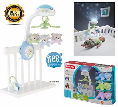 Mobile Butterfly Dreams Projection Fisher Price Musical Cot Baby Projector Toy
