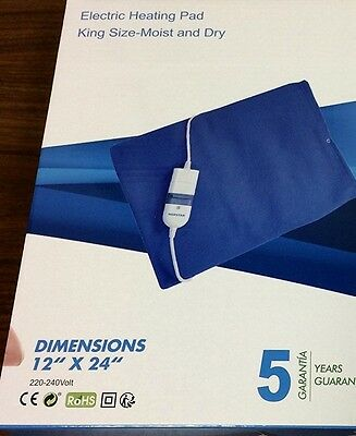 Norstar King Size Moist/Dry Electric Heating Pad 12 x 24 FOR OVERSEAS 220 VOLTS