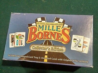 Mille Bornes French Auto Racing Card Game Collectors Edition w/ Car Card Tray