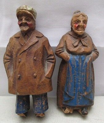 Vintage Syrocowood  Syroco Wood Castings Figure Old Sailor Man Woman Statue USA