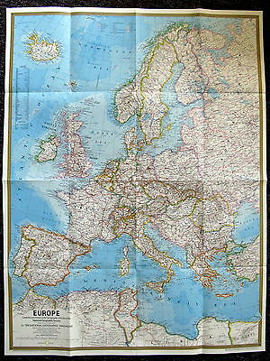 Europe 1977 & Celtic Europe   National Geographic Map / Poster May 1977
