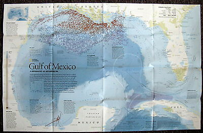 Gulf of Mexico  --National Geographic Map / Poster August 2010