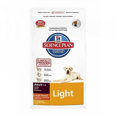 Hills Canine Adult Large Breed Light Huhn Hundefutter 12kg