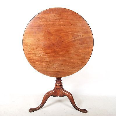 Antique Victorian Tripod Table Tilt Top Table Mahogany Pedestal Lamp Wine Table