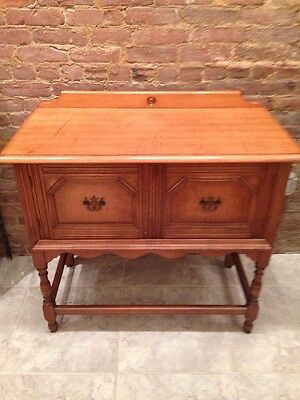 Antique Maple Sideboard Server Buffet Cabinet