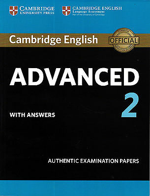 Cambridge ENGLISH ADVANCED CAE 2 +Answers EXAMINATION PAPERS 2016 Book Only! NEW