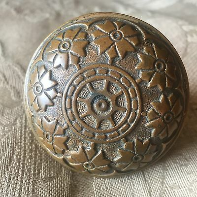 Antique Victorian Vernacular Solid Heavy Brass Door Knob. #A
