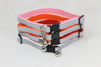 Gloss Reflective Cat Collar with safety Snap Away Safety Buckle