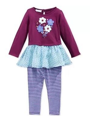 6c84ffdc985 New  38.50 First Impressions Little Girls Perfect Plum Set Outfit Sz 0-3M    3