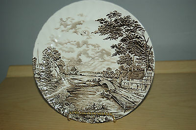 """Ridgway Country days Hand Engraving 10"""" Dinner souper Plates Collector plate"""