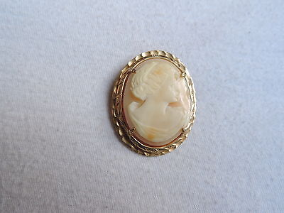 Victorian Shell Carved Cameo Brooch Pendant Jewelry (id411)