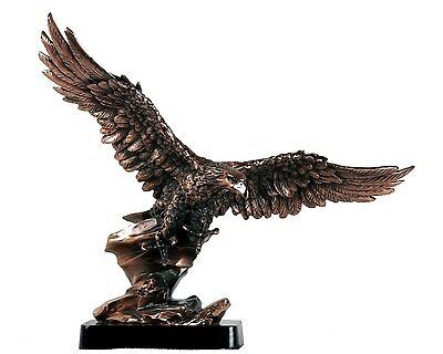 Bronze Eagle with Full Wings Sculpture C4100