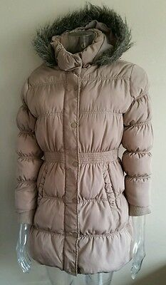 NEXT Girls Beige Padded Quilted Jacket / Coat Age 11-12 Years