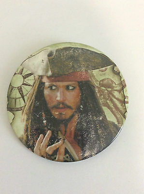 PIRATES OF THE CARIBBEAN 3-inch Giant BADGE Capt. Jack NEW OFFICIAL MERCHANDISE