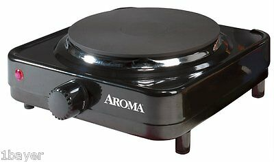 Aroma Kitchen Single Hot Plate Dinner Portable Electric Countertop Burner