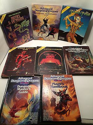 Lot of 8 Advanced Dungeons & Dragons TSR Hard Cover Books Guides AD&D Vintage