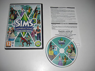 THE SIMS 3 GENERATIONS Add-On Expansion Pack Pc DVD Rom / MAC Sims3  Fast POST