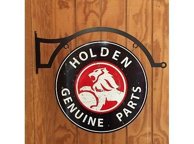 NEW Holden Genuine Parts Large Round Double Sided and hanger tin metal sign