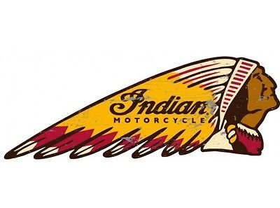NEW Indian Head tin metal sign