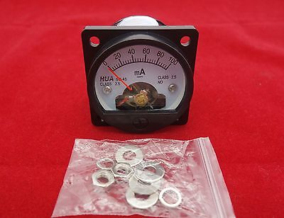 1PC DC 0-100MA Analog Ammeter Panel AMP Current Meter SO45 Cutout 45mm