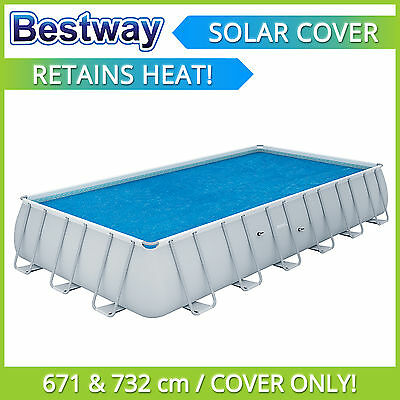 Bestway Solar Pool Cover for 6.71m and 7.32m Pools - 58228 - RETAINS HEAT!
