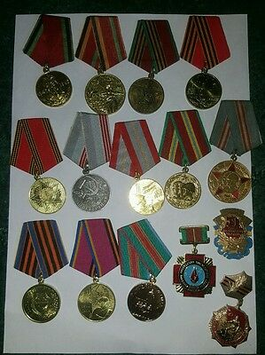 Set of 15 Original  Russian USSR Soviet orders medals pin badges.
