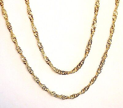 """10k yellow gold(2mm) thick Singapore chain(2.8gr/22""""inch)"""